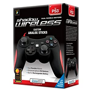 PS3 Shadow Wireless Controller with Rumble