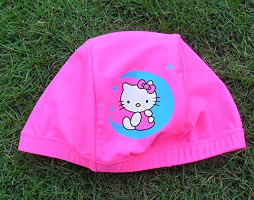 Cindy-Will-1Pec-Breathable-Protection-Catoon-KitCat-Pattern-No-Slip-Swimming-CapHat-For-GirlsKidsChildren