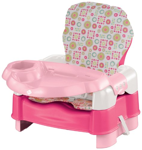 Safety 1St Deluxe Sit, Snack, And Go Convertible Booster, Pink With Full Pad front-857070