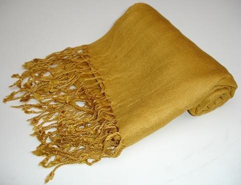 Pashmina Scarf Shawl Wrap Throw Mustard Gold