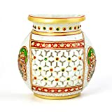 Single PieceEthnic Treat 1 Flower Vase LxBxH: 5.5x5x2.5 White Flower Vase