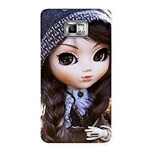 Ajay Enterprises Extant Cool Cute Beautiful Doll Back Case Cover for Galaxy S2