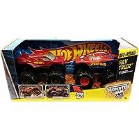Hot Wheels Monster Jam Rev Tredz Double Pack Marvel Super Heroes: Iron Man Vs Spider Man