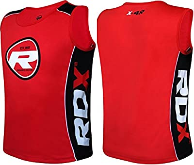 RDX Training Sleeveless Vest Exercise Fitness Gym Tank Top Tshirt Bodybuilding