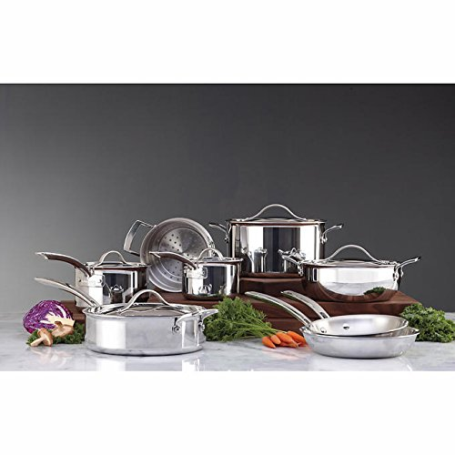 Kirkland Signature Stainless Steel TriPly Clad Cookware Set 13 Piece (Triply Cookware compare prices)