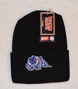 Fresno State Bulldogs Black Beanie Hat - NCAA Cuffed Toque Knit Cap by NCAA