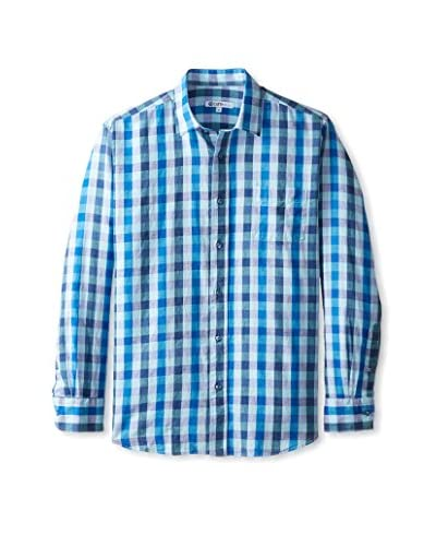 CaféBleu Men's Juanno Gingham Long Sleeve Shirt
