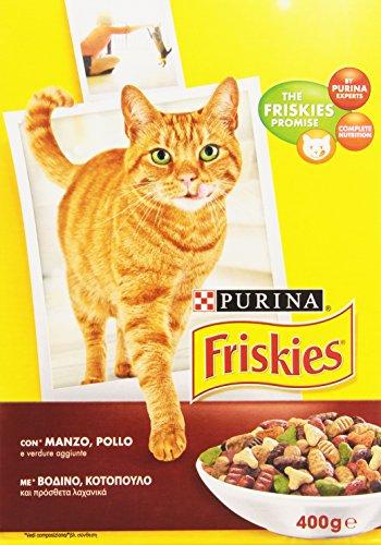 Purina - Alimento completo per gatti adulti, con Manzo, Pollo e Verdure - 400 g