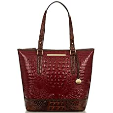 Asher Tote<br>Carmine Red Tri-Texture