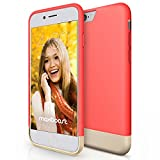 iPhone 6 Case, Maxboost® [Vibrance Series] iPhone 6 (4.7) Case [Lifetime Warranty] Protective SOFT-Interior Scratch Protection Metallic Finished Base with Vibrant Trendy Color Slider Style Hard Case for iPhone 6 (4.7 inch) (2014) – Italian Rose / Champagne Gold thumbnail