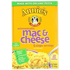 Annie's Homegrown Wisconsin Cheddar Microwavable Mac & Cheese 5-Count 2.15 Packets (Pack of 3)