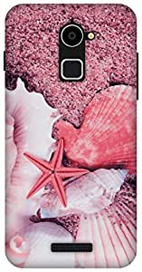 The Racoon Lean Sandy Shore Pink hard plastic printed back case / cover for Coolpad Note 3 Lite