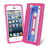 Celicious Hot Pink Retro Cassette Tape Silicone Skin Case for Apple iPhone 5s / iPhone 5 Apple iPhone 5s Case Cover