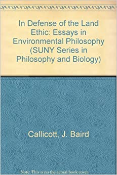 environmental ethics inventory essay Most influential with regard to this kind of thinking, however, was an essay in aldo leopold's a sand county almanac environmental ethics was.