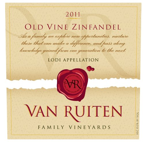 2011 Van Ruiten Family Vineyards Old Vine Lodi Zinfandel 750 Ml