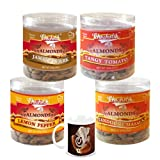 Chocholik Dry Fruits - Almonds Jamaican Jerk, Tandoori Masala, Tangy Tomato & Lemon Pepper - Gifts For Diwali...