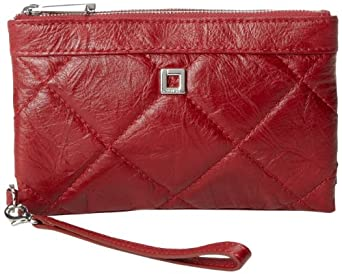 Lodis Abbot Kinney Bettie 356AB Wallet,Cranberry,One Size