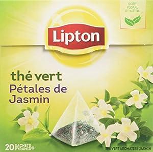 Lipton - Thé Vert Jasmin - 20 Sachets Pyramide - Lot de 3