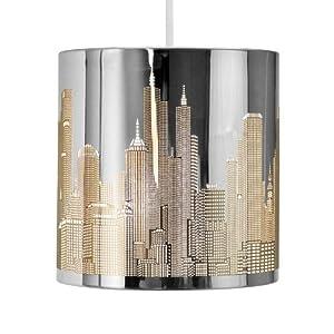 minisun 39 easi lite 39 abat jour abats jour pour suspension r tro gratte ciel de new york. Black Bedroom Furniture Sets. Home Design Ideas