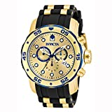 Invicta Men's 17887 Pro Diver Blue-Accented and 18k Gold Ion-Plated Stainless Steel Watch
