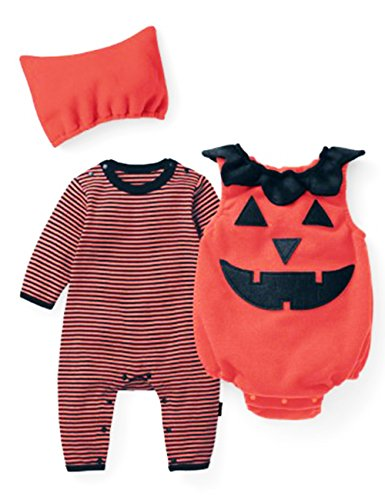 Ariamark Halloween Baby Pumpkin Costumes 0-18 Month 3pcs (Cheap Costume Ideas Halloween)