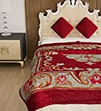 Home Candy Floral Cozy and Warm Polyster Mink Single Bed Blanket - Multicolour (MNK-BLN-114)