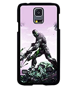printtech Game Crysis Weapon Back Case Cover for Samsung Galaxy S5 Mini::Samsung Galaxy S5 Mini G800F