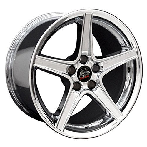Chrome Wheel 18x9 Saleen Style for 1994-2004 Ford Mustang (Mustang Saleen Wheels compare prices)