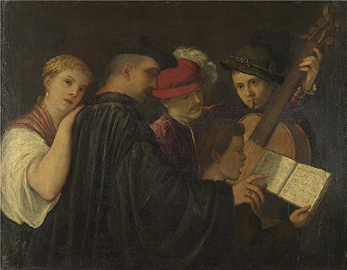 Oil Painting 'Imitator Of Titian A Concert', 10 x 13 inch / 25 x 33 cm , on High Definition HD canvas prints is for Gifts And Bar, Dining Room And Garage Decoration, huge (Chicago Concert Tickets compare prices)