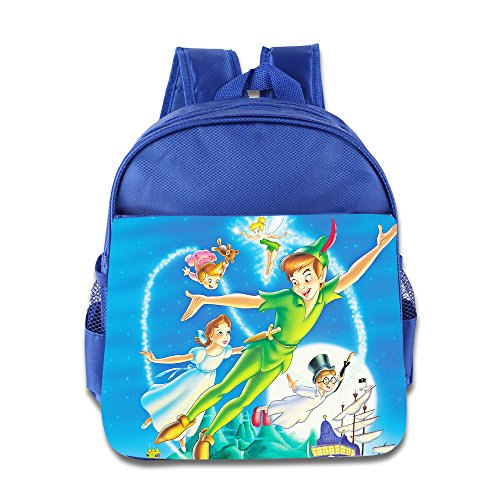 Kids Peter Pan And Tinkerbell School Backpack Cute Children School Bags RoyalBlue (Peter Pan Bag compare prices)