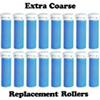 Extra Coarse Blue Micro Mineral Replacement Rollers for Emjoi Micro Pedi (16 pack)
