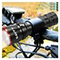 SAVFY� 2 X CREE LED Bike Bicycle Cycle Head Front Lamp Flashlight Torch up to 270 lm + 5 LED Rear Light Kit Set (2212)