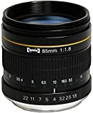 Opteka 85mm f/1.8 Aspherical Medium Telephoto Portrait Lens for Nikon D4S, DF, D4, D3X, D810, D800, D750, D610, D600, D300S, D7200, D7100, D7000, D5500, D5300, D5200, D5100, D90, D3300, D3200 and D3100 Digital SLR Cameras