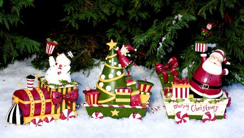 Christmas Train Resin Statue