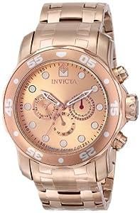 Invicta Men's 15047 Pro Diver Analog Display Swiss Quartz Rose Gold Watch