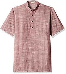 Fabindia Men's Mid-Thigh Cotton Kurta  (10422522_44_Purple)
