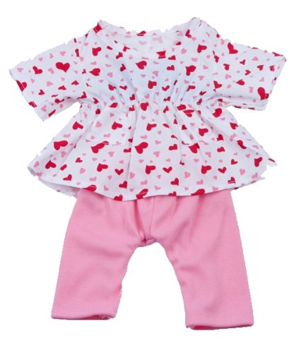 51cfJWTVRRL Cheap  Heart Dress w/Pink Pants Teddy Bear Clothes Outfit Fit 14   18 Build a bear, Vermont Teddy Bears, and Make Your Own Stuffed