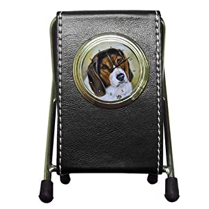 Limited Edition Violano Pen Holder Desk Clock Beagle Dog