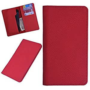 DCR Pu Leather case cover for Lava iris 506Q (RED)