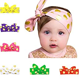 Quest Sweet® Baby Girls Toddler Bow Headbands Turban Knot Rabbit Hairband Headwear