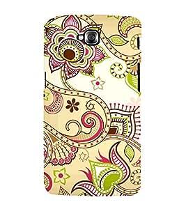 Indian Ranogli Pattern Art 3D Hard Polycarbonate Designer Back Case Cover for LG GPro Lite :: LG G Pro Lite Dual D686