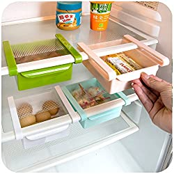 ALTG Multi Purpose Fridge Storage Racks For Easily Maintaining Your Extra Meals, Sweets, Chocolates, Double Up Your Space in Refrigerator with easily Organizable Tray - (Pack of 4pcs)