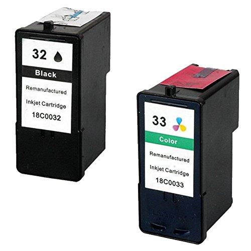 Prestige Cartridge 2 x Lexmark 32 & 33 Tintenpatronen, schwarz/dreifarbig