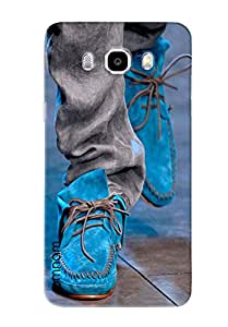 Omnam Sky Blue Canvas Shoes Design Back Cover Case For Samsung Galaxy J5 (2016)