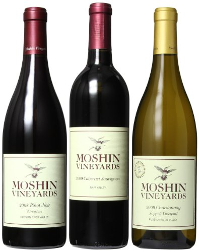 Moshin Vineyards  Varietal Mixed Pack, 3 x 750mL