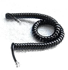Handset Cord 9 Ft Black Heavy Duty New in a Factory Sealed Bag