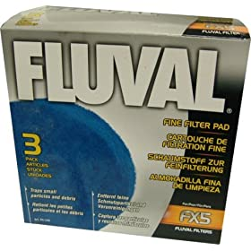 Hagen Fluval FX5 Replacement Fine Filter Pad, 3 Pack (Fluval A-248)