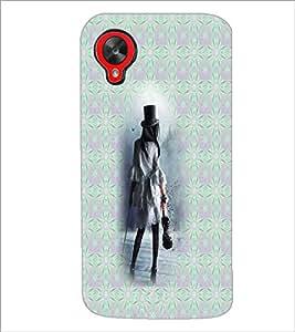 PrintDhaba Hat Girl D-5650 Back Case Cover for LG GOOGLE NEXUS 5 (Multi-Coloured)