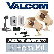 Valcom 2 Horn Speaker Paging Pa System Kit Industrial