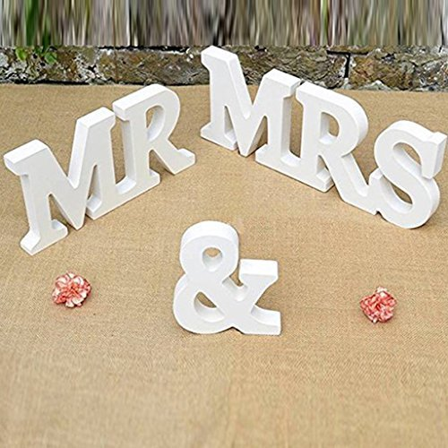 Mr & Mrs Wooden Letters Wedding Decoration